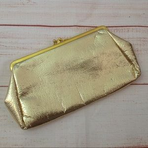 Vintage 50s St Thomas Gold Formal Clutch Purse